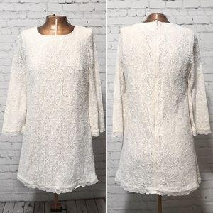 Topshop Ivory Lace Tunic Dress GUC